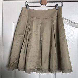White House Black Market Gold Skater Skirt 12